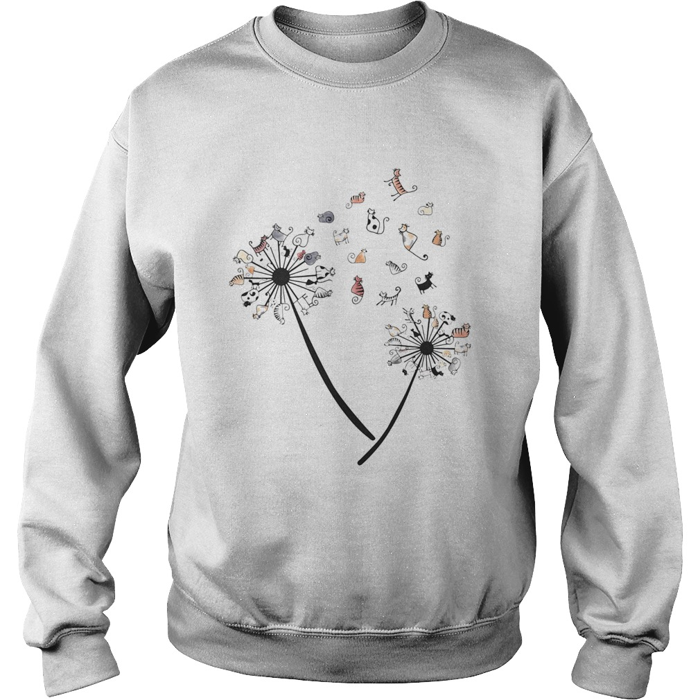 Dandelion Cats White Black Spot  Sweatshirt