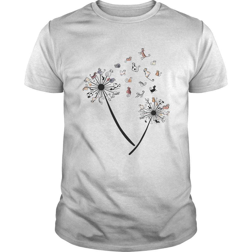 Dandelion Cats White Black Spot  Unisex