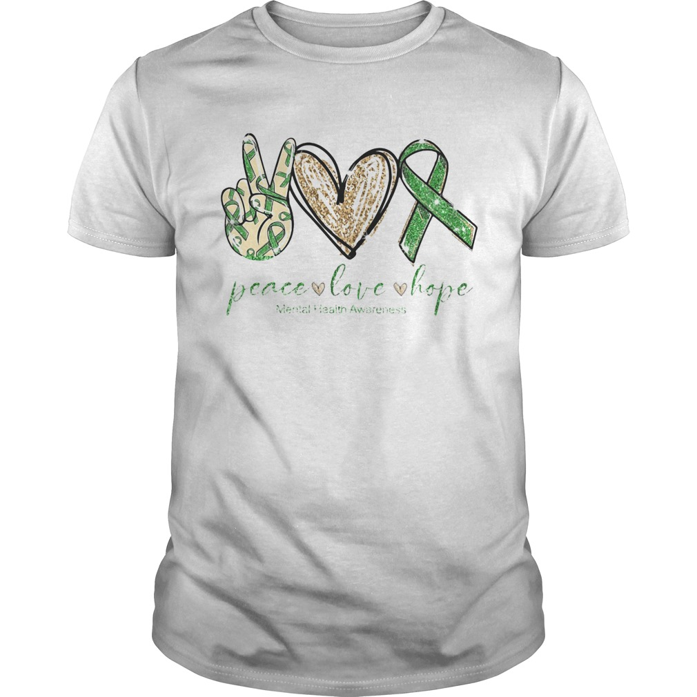 Diamond Peace love hope mental health awareness  Unisex