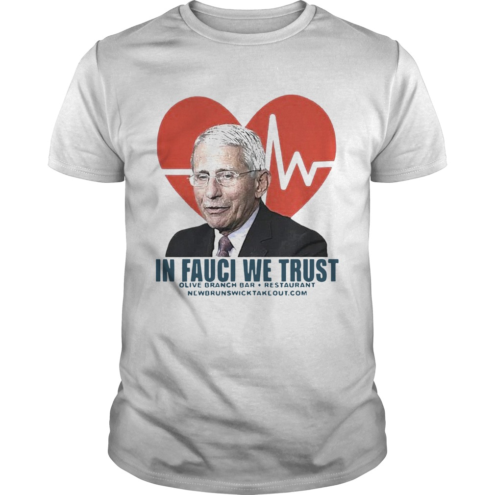 Dr Fauci in fauci we trust olive branch bar and restaurant  Unisex