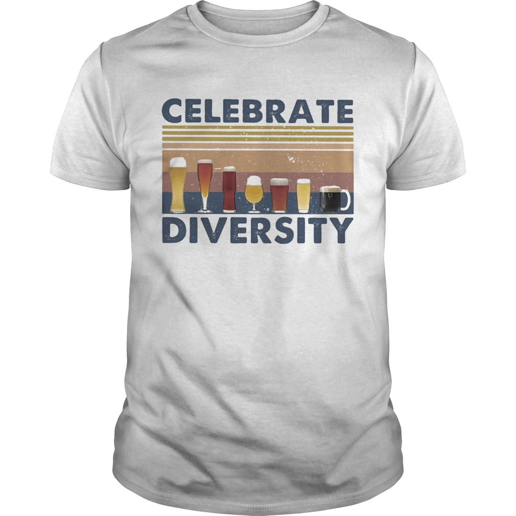Drinks celebrate diversity vintage retro  Unisex