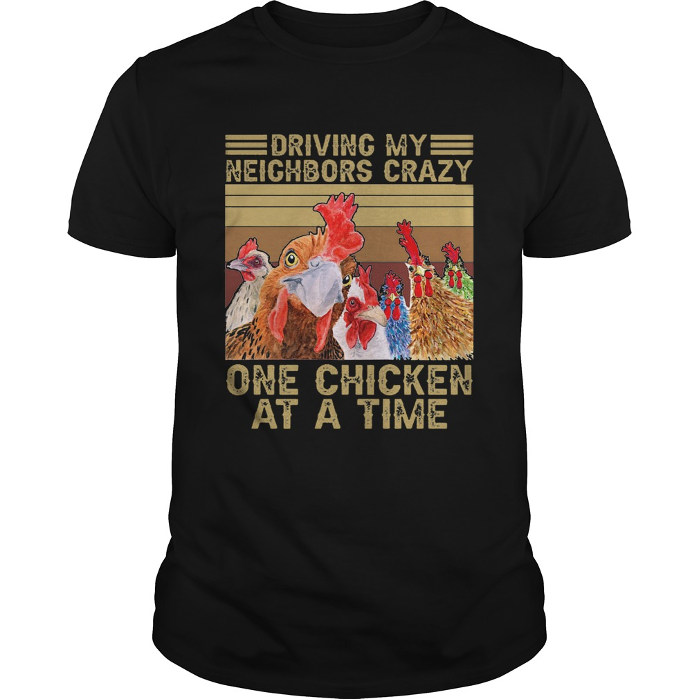Driving My Neighbors Crazy One Chicken At A Time Face Mask Vintage Retro  Unisex