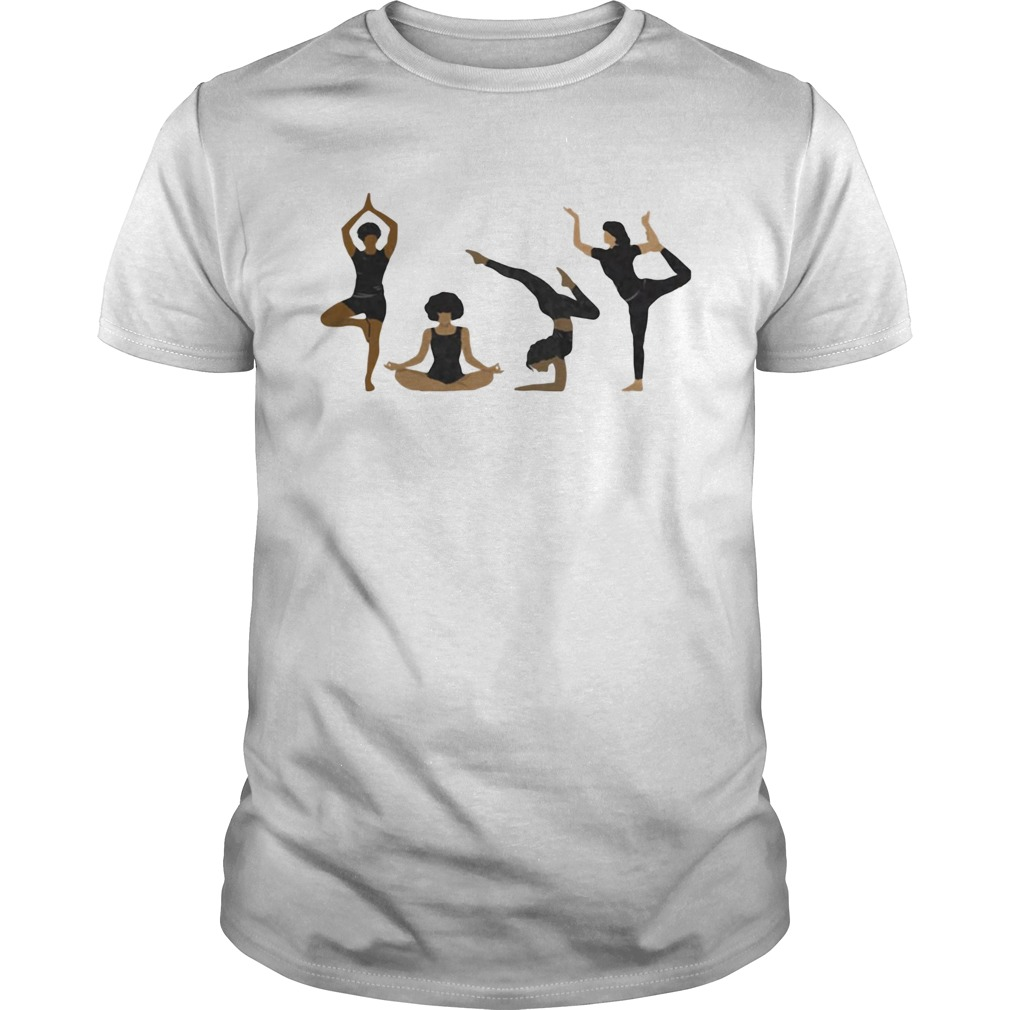Four Yoga Postures Team Girl  Unisex