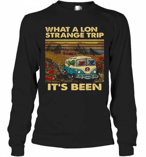 Grateful Dead Bus Bears What A Long Strange Trip It'S Been Vintage Retro T-Shirt Long Sleeved T-shirt