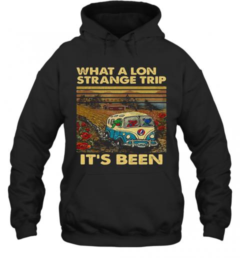 Grateful Dead Bus Bears What A Long Strange Trip It'S Been Vintage Retro T-Shirt Unisex Hoodie