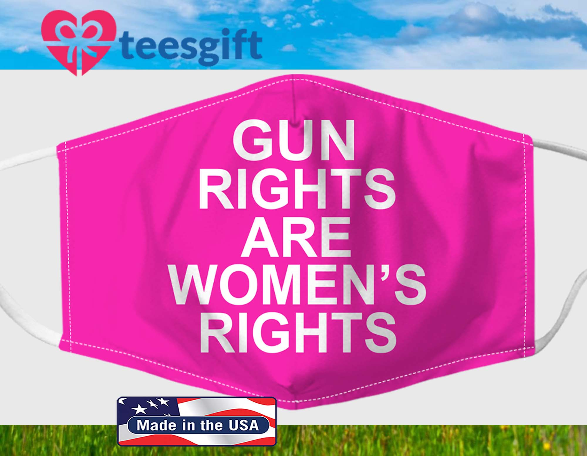 Gun Right Are Women's Rights Fabric Face Mask