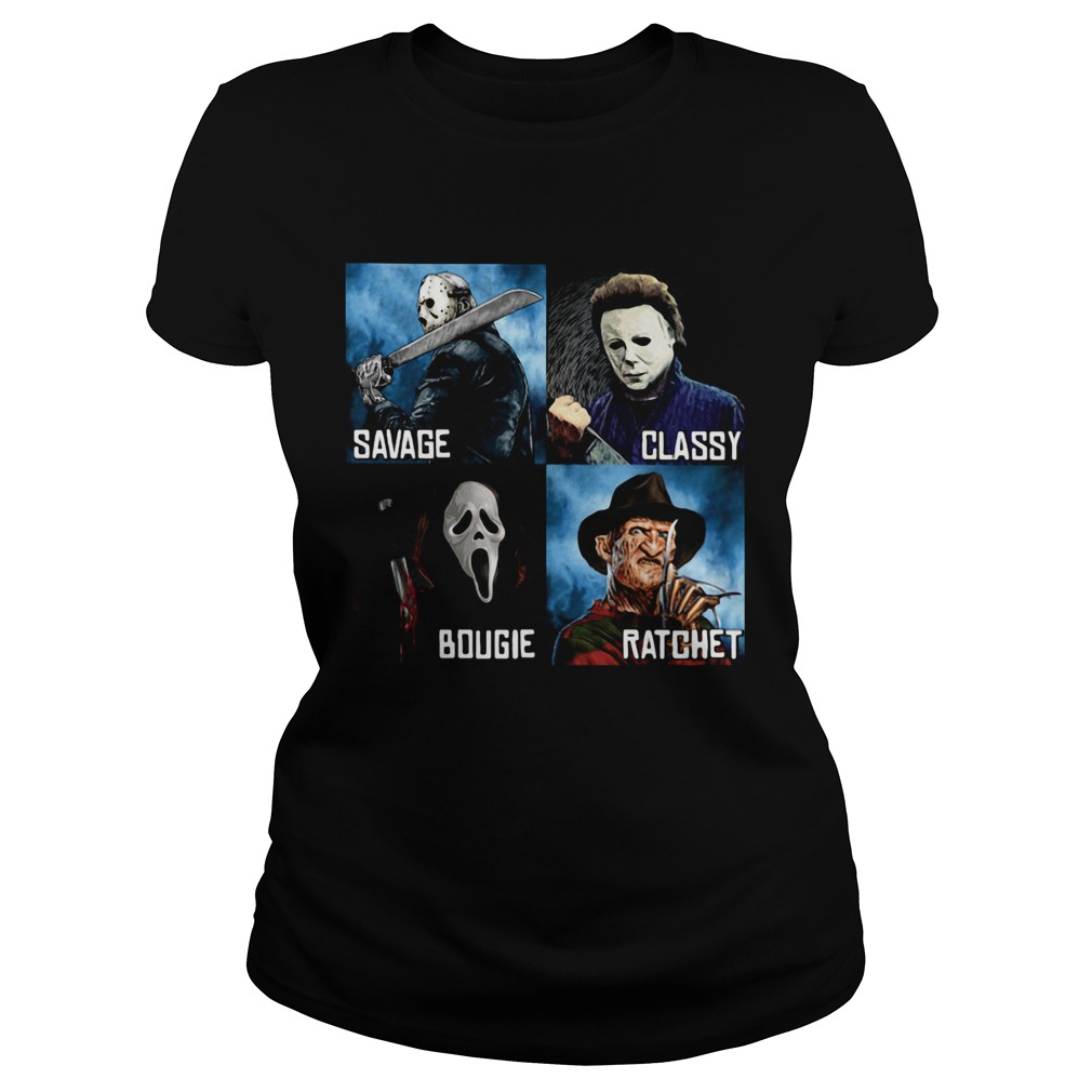 Halloween horror characters savage classy bougie ratchet Classic Ladies