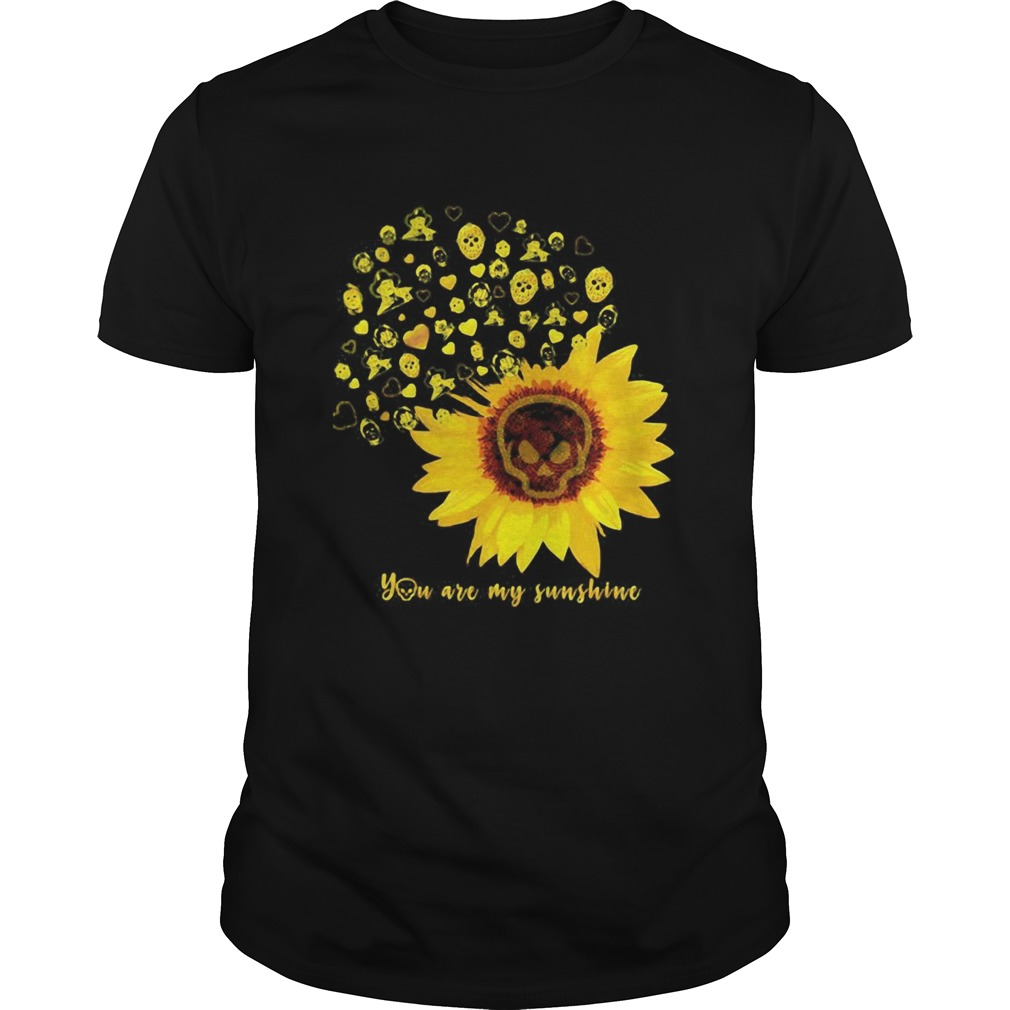 Halloween michael myers sunflower skull you are my sunshine  Unisex
