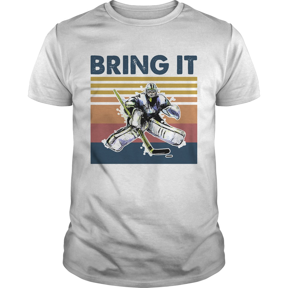 Hockey bring it vintage retro  Unisex