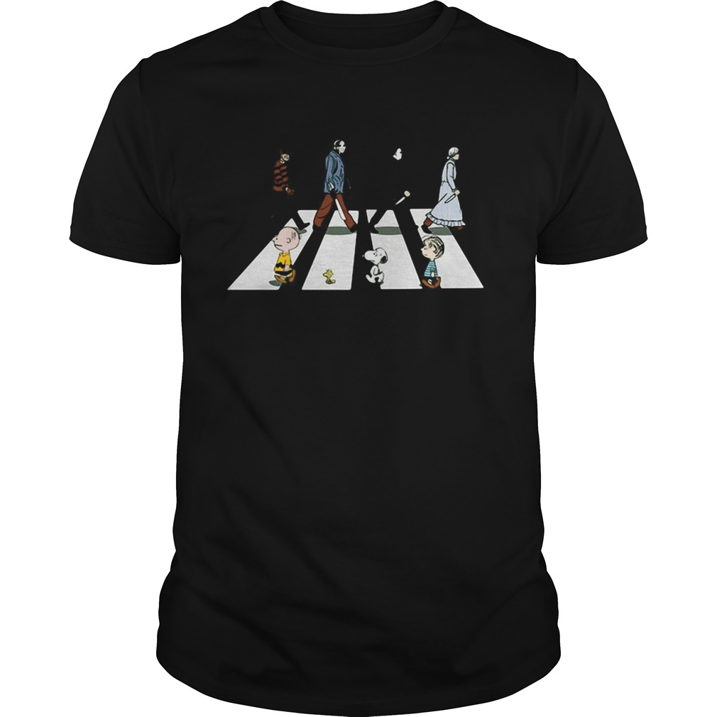 Horror characters and the peanuts abbey road  Unisex
