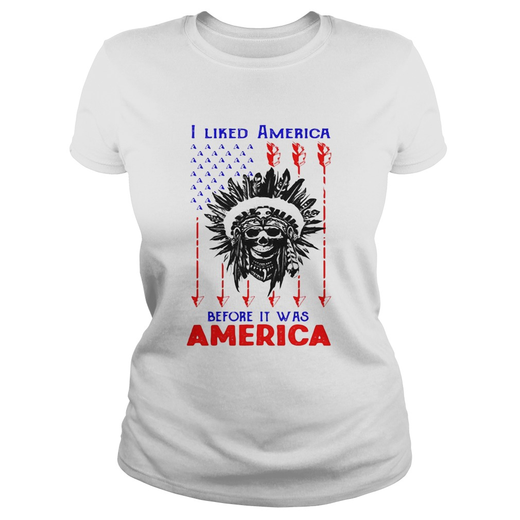 I Liked American Before Its Was American Skullcap Aborigines Classic Ladies
