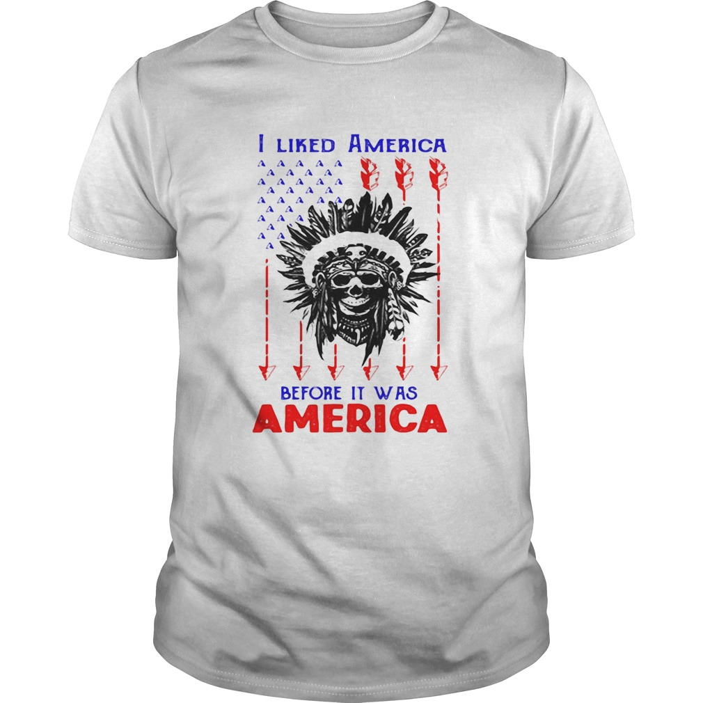 I Liked American Before Its Was American Skullcap Aborigines Unisex