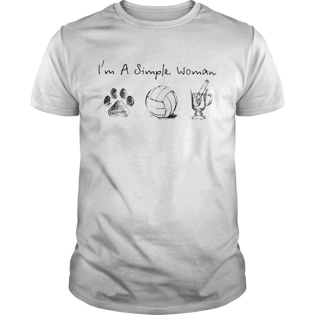 Im a simple woman dog paw volleyball  Unisex