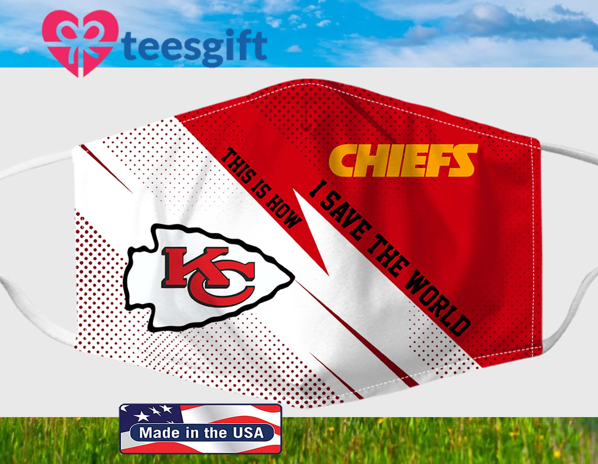 Kansas City Chiefs This Is How I Save The World Fabric Face Mask PM 2.5