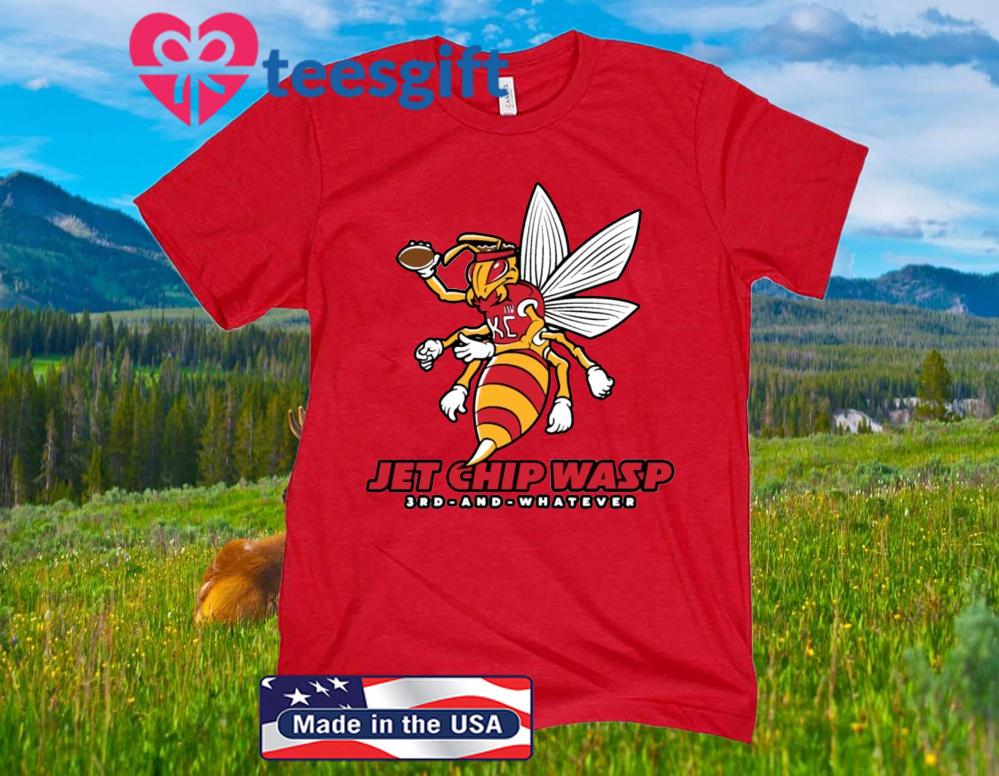 KC Jet Chip Wasp - Kansas City Chiefs Shirt
