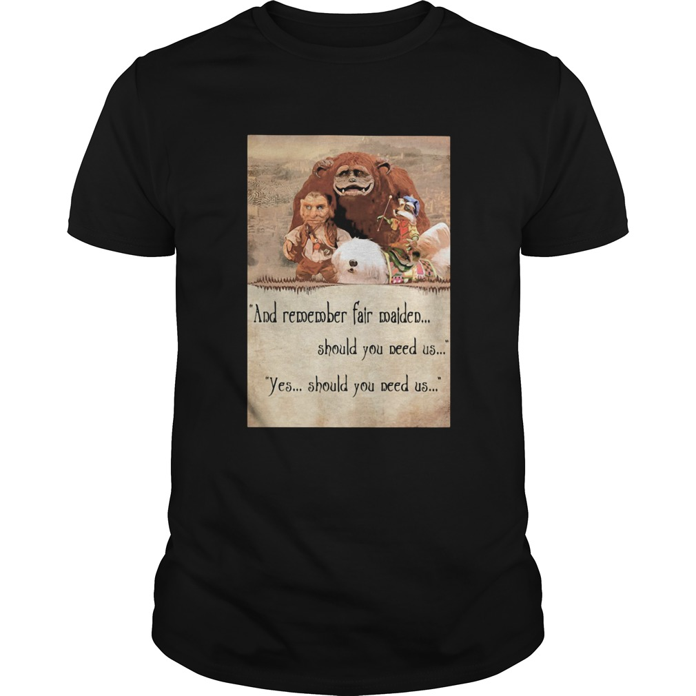 Labyrinth ending and remember fair maiden should you need us yes should you need us  Unisex
