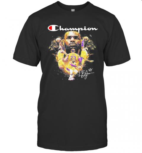 Lebron James Los Angeles Lakers Signature T-Shirt Classic Men's T-shirt
