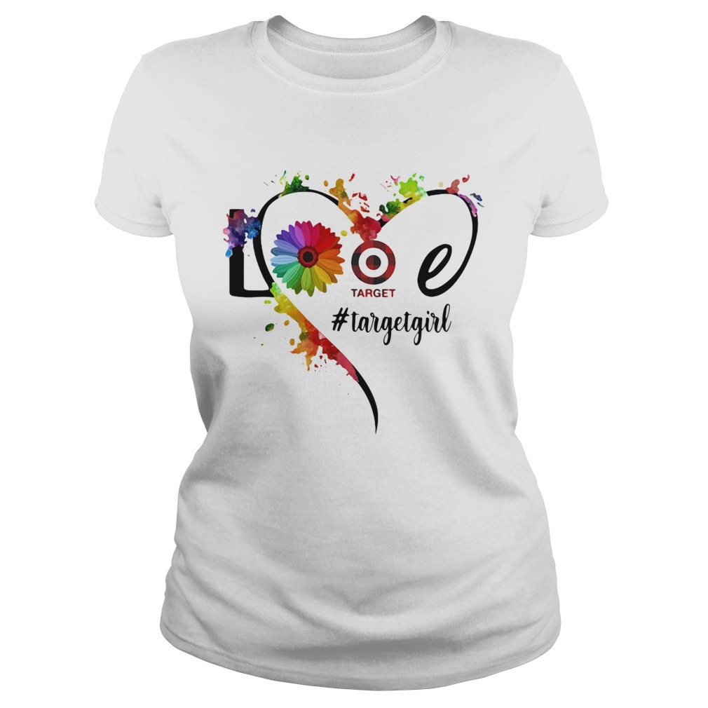 Lgbt love target girl flower heart  Classic Ladies