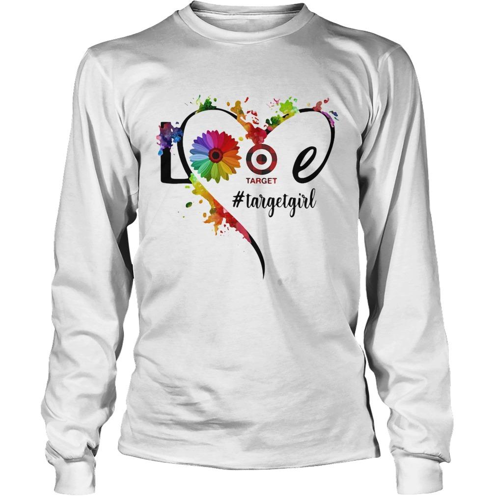 Lgbt love target girl flower heart  Long Sleeve