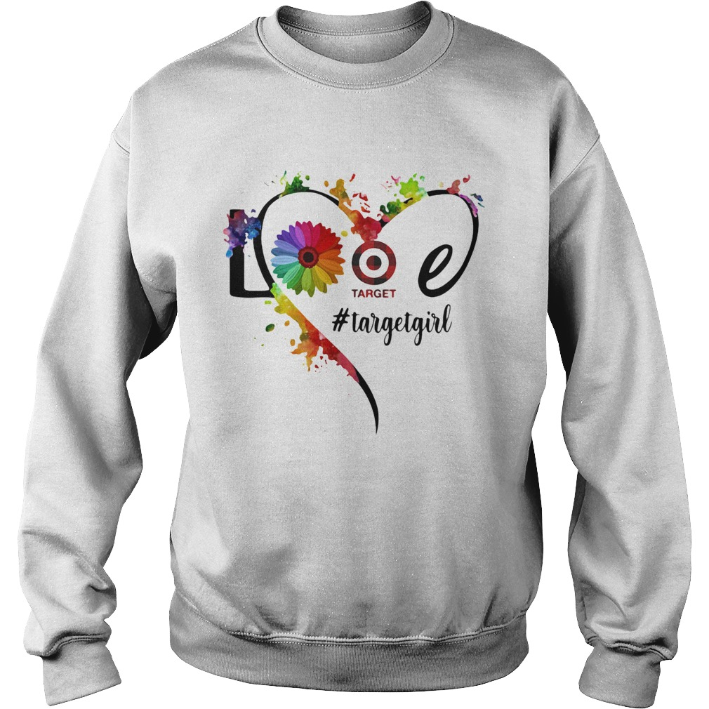 Lgbt love target girl flower heart  Sweatshirt