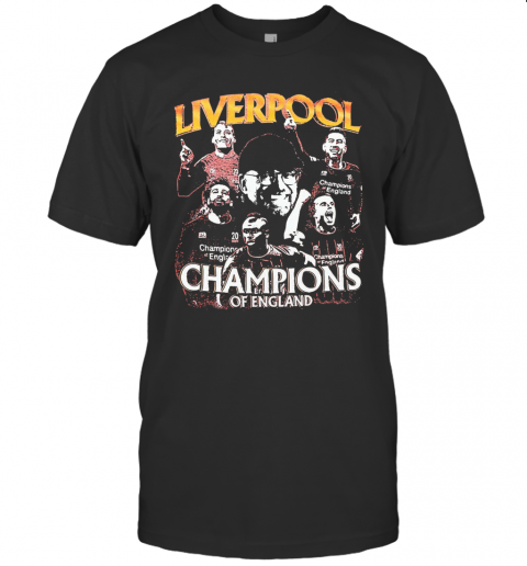 Liverpool Champions Of England Players T-Shirt Classic Men's T-shirt