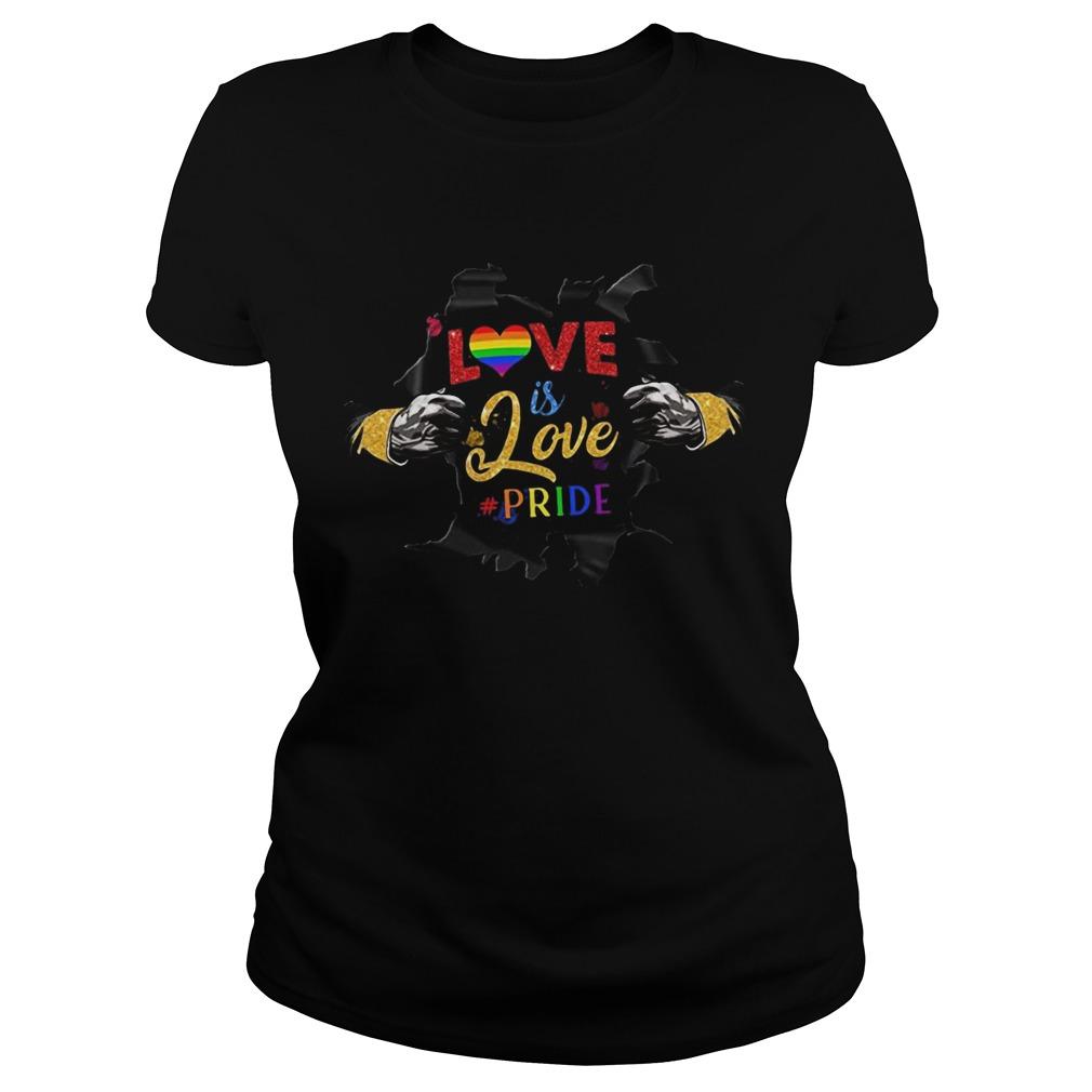 Love Is Love Pride Open Hand Heart LGBT  Classic Ladies