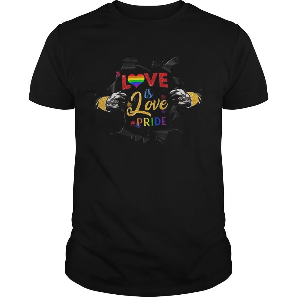 Love Is Love Pride Open Hand Heart LGBT  Unisex