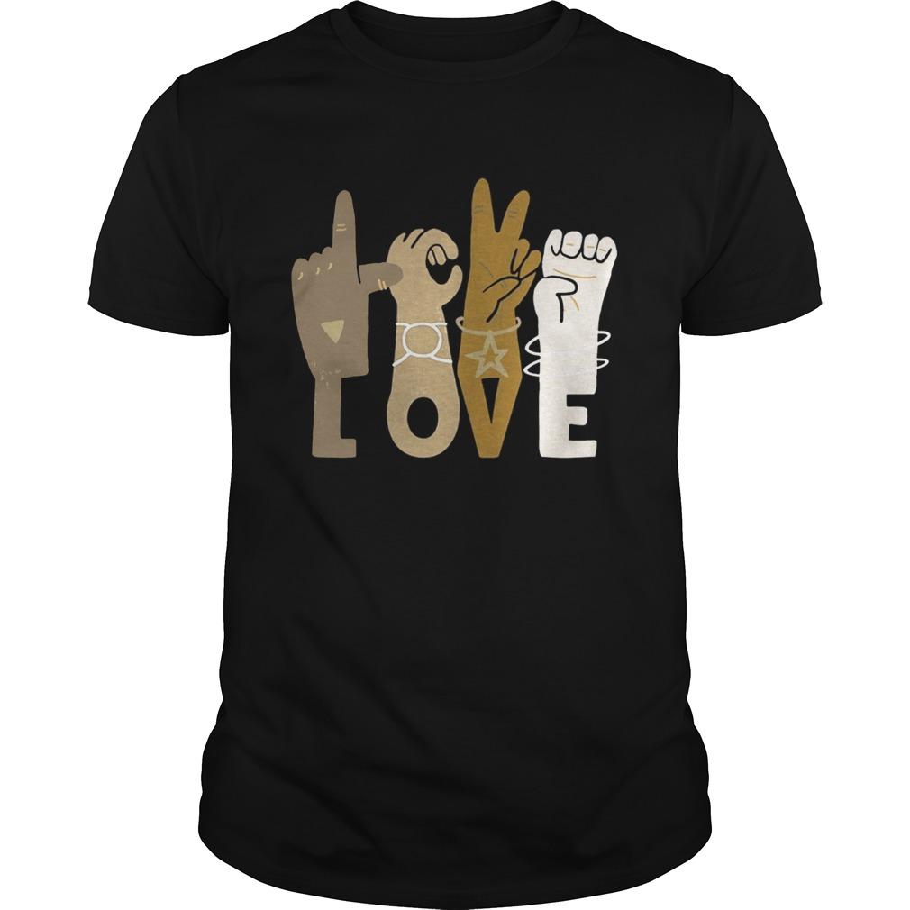 Love sign language black lives matter  Unisex