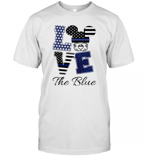 Mickey Mouse Love The Blue American Flag Independence Day T-Shirt Classic Men's T-shirt