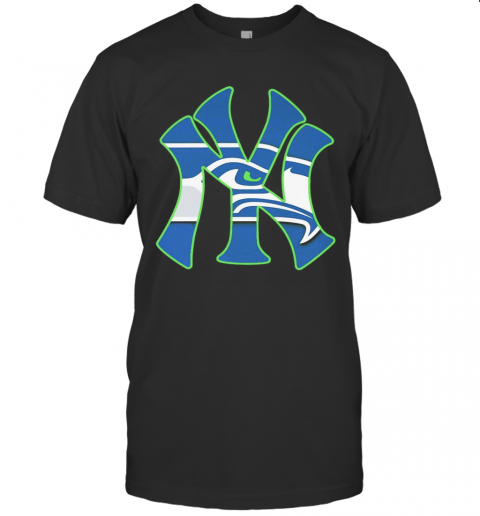 New York Seahawks Yankees Canvas T-Shirt Classic Men's T-shirt
