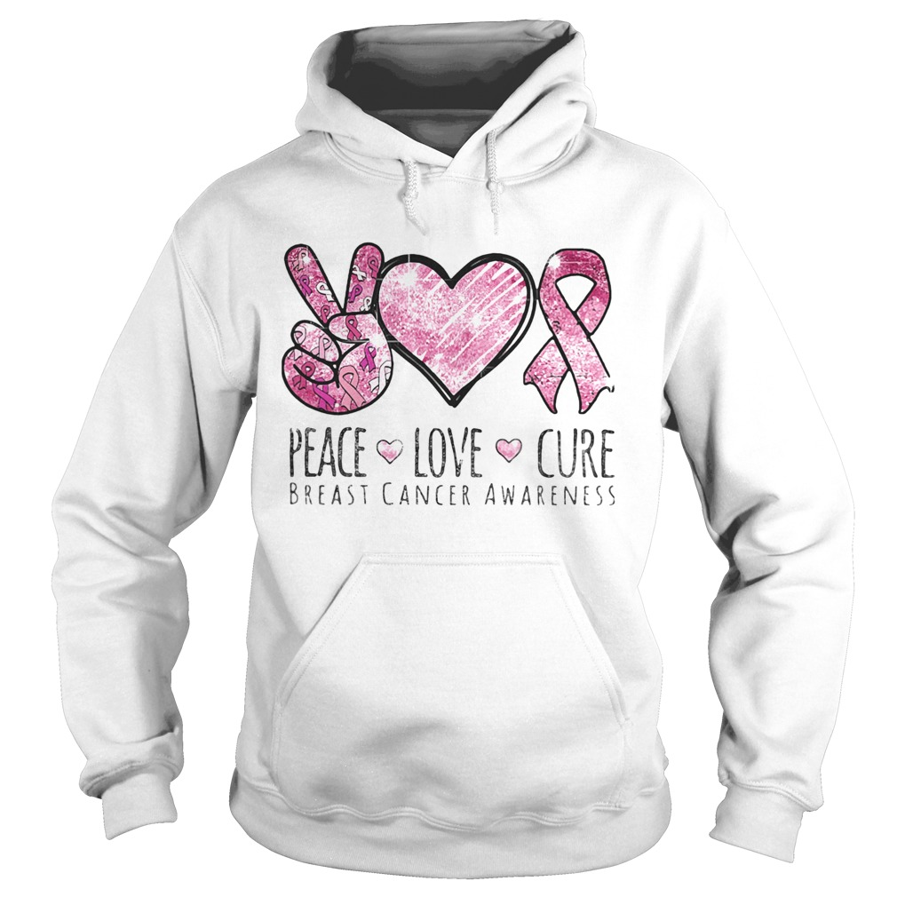 Pace Love Cure breast cancer awareness  Hoodie