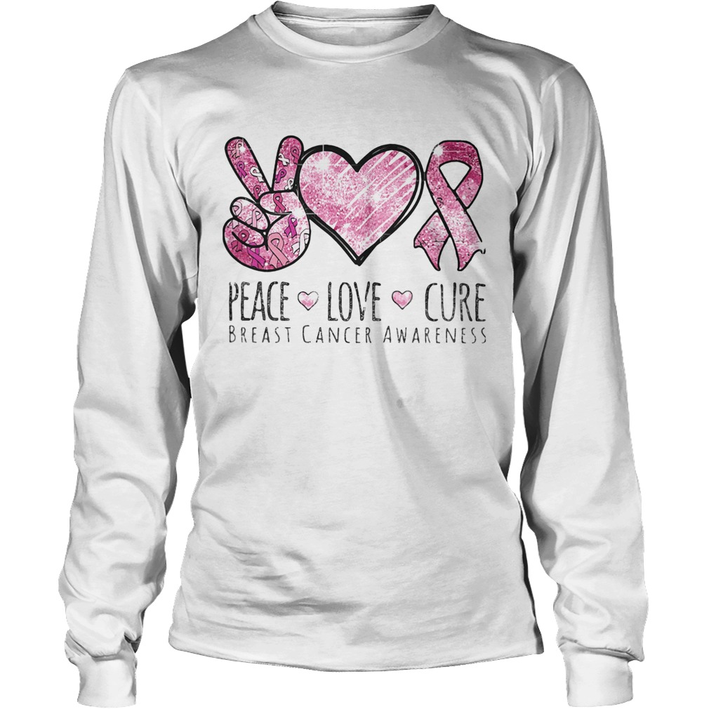 Pace Love Cure breast cancer awareness  Long Sleeve