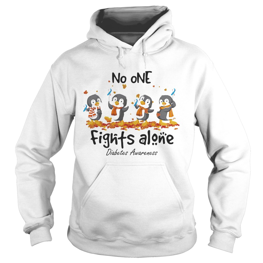 Penguins no one fights alone diabetes awareness  Hoodie