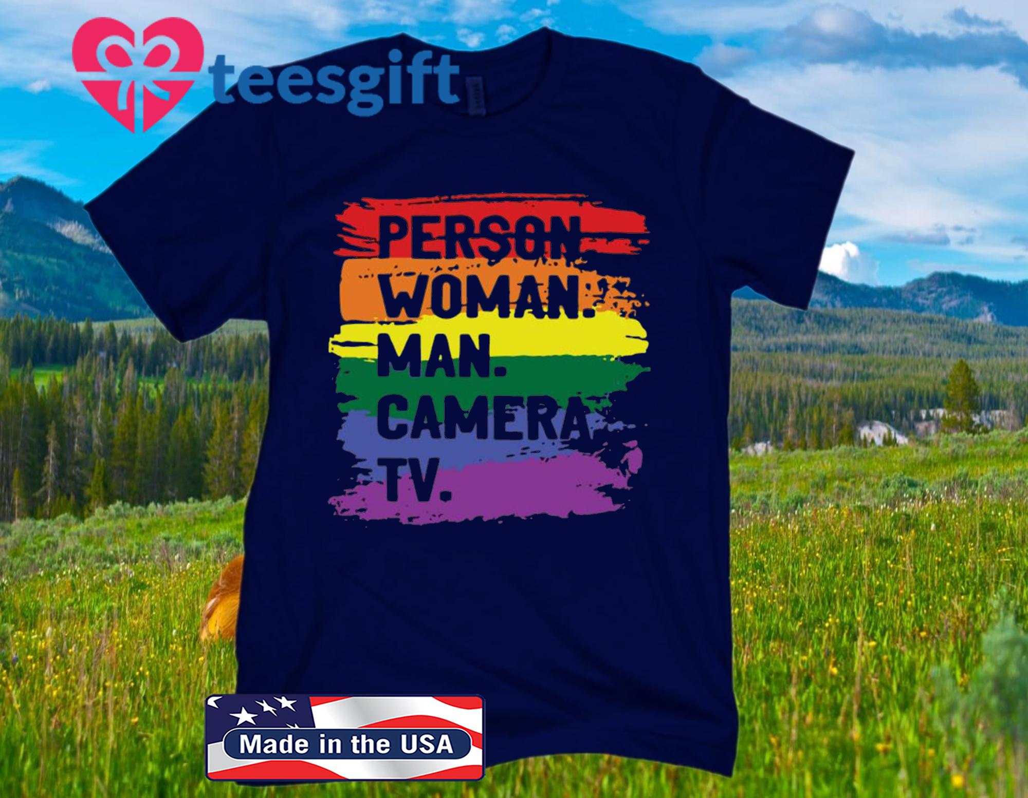 Person Woman Man Camera TV Classic 2020 T-Shirt