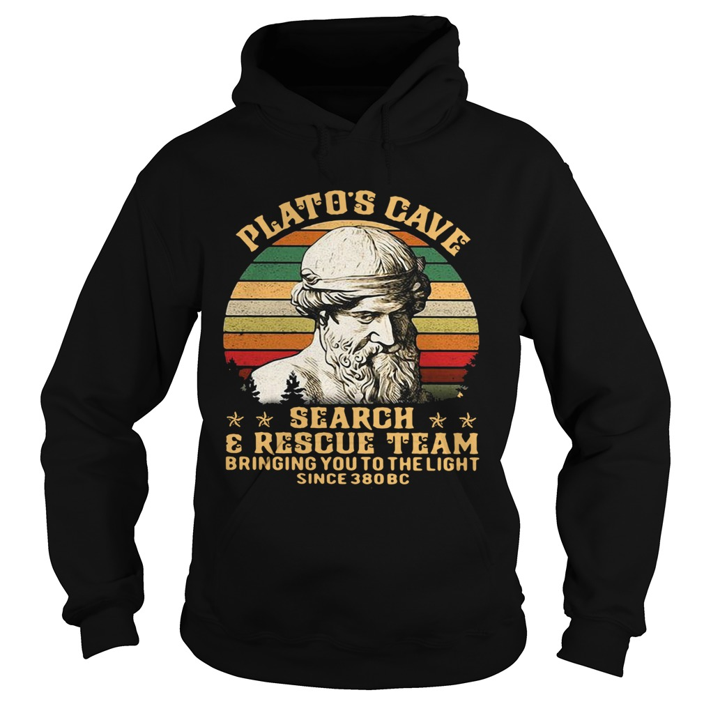Platos Cave Search And Rescue Team Vintage  Hoodie