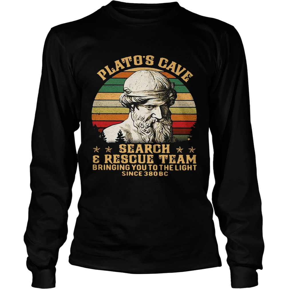 Platos Cave Search And Rescue Team Vintage  Long Sleeve
