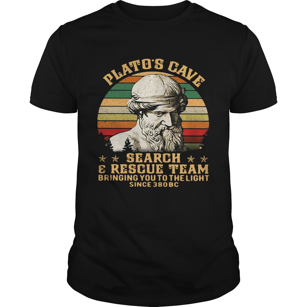Platos Cave Search And Rescue Team Vintage  Unisex