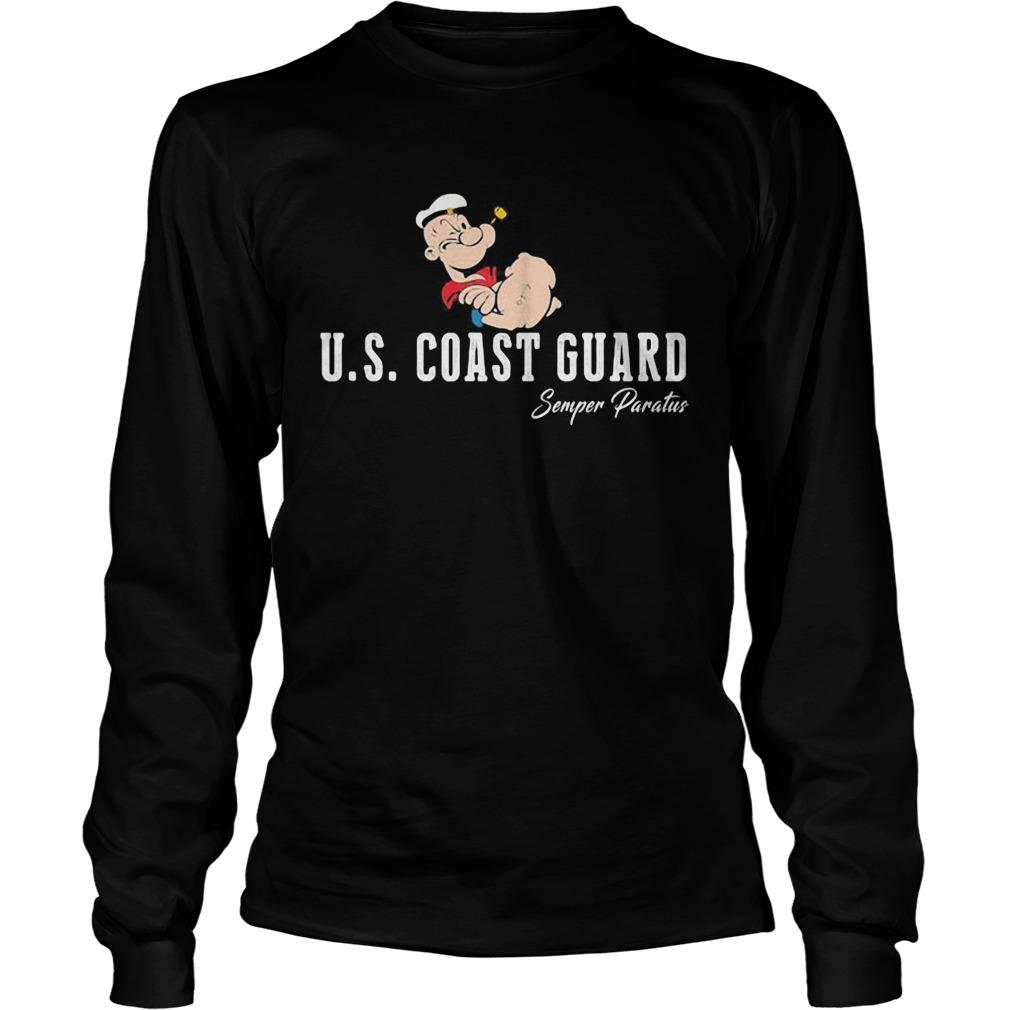 Popeye us coast guard semper paratus  Long Sleeve