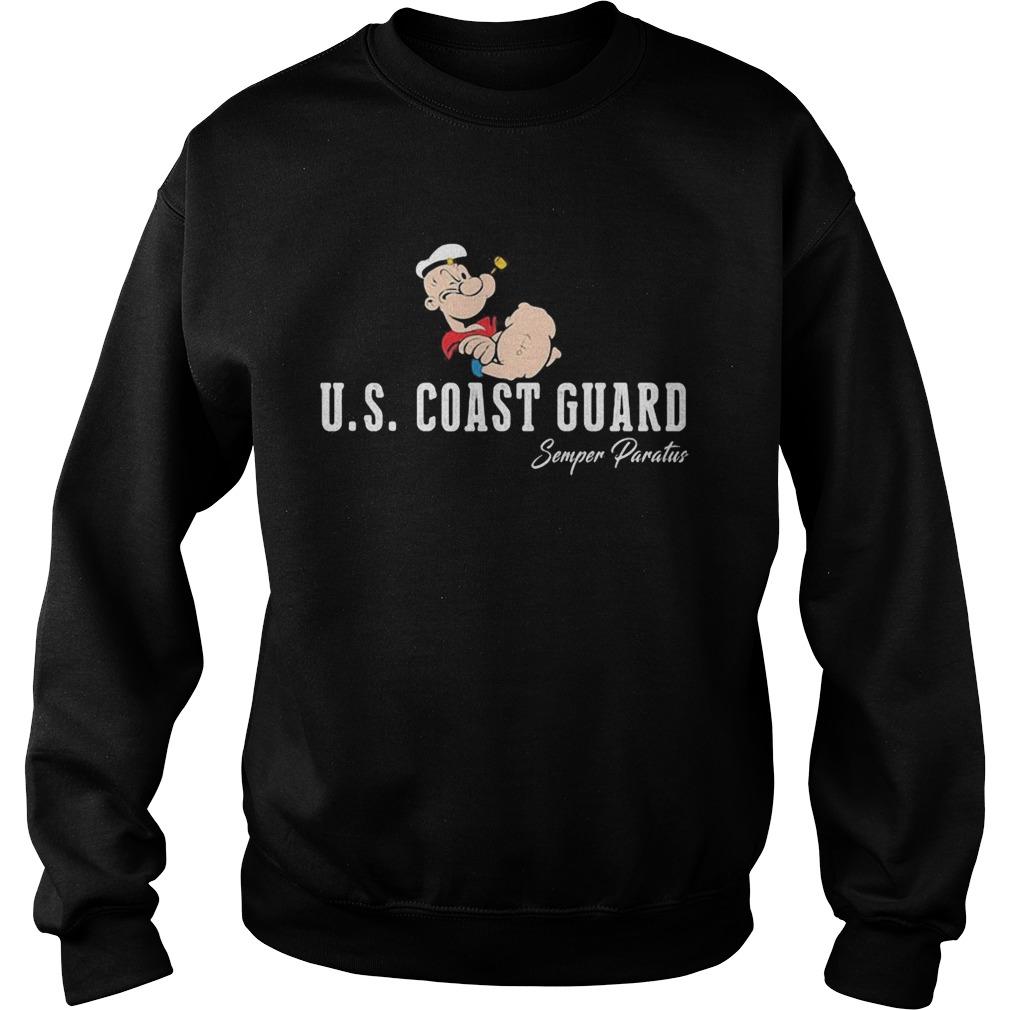 Popeye us coast guard semper paratus  Sweatshirt