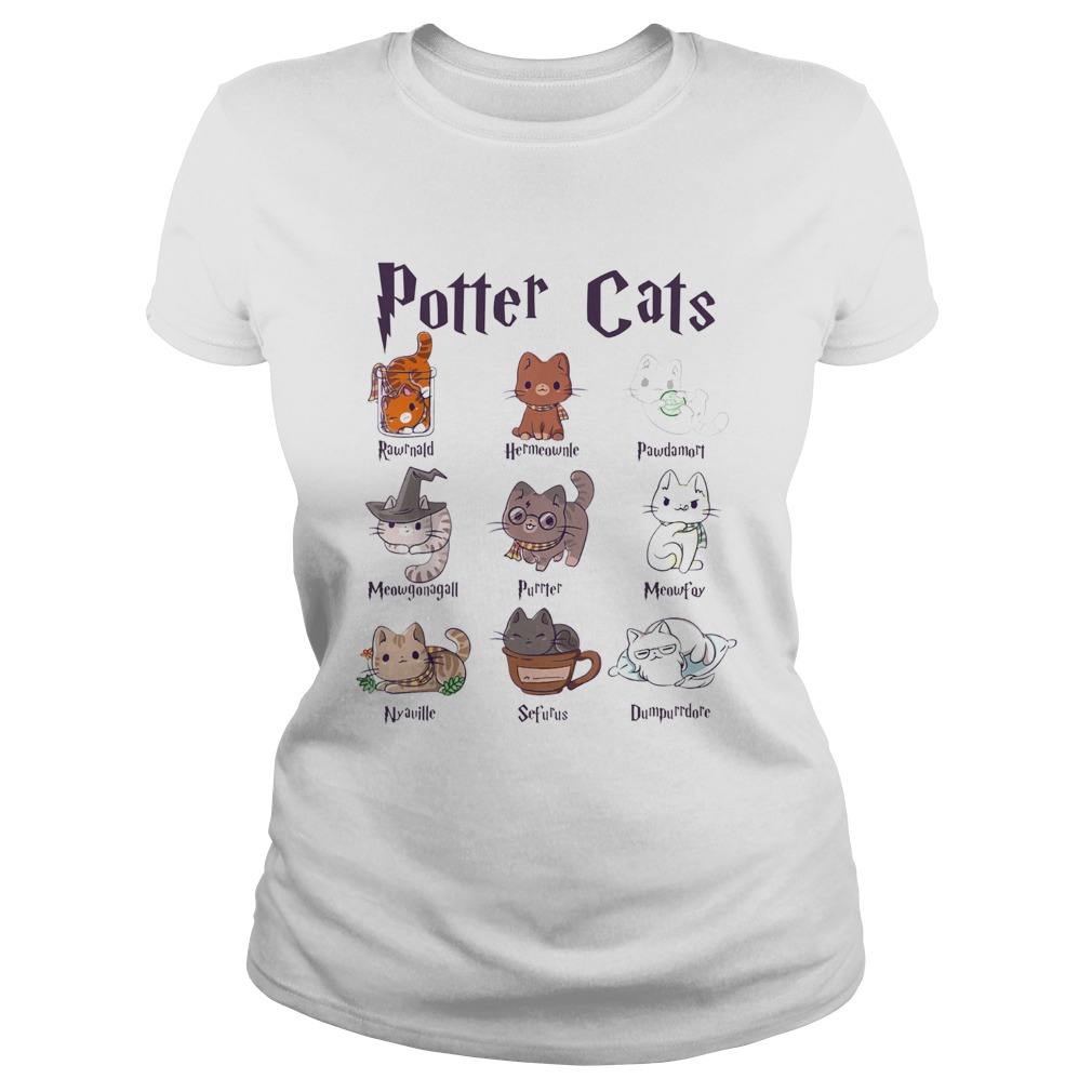 Potter Cats Rawnald Hermeownle Pawdamort Classic Ladies