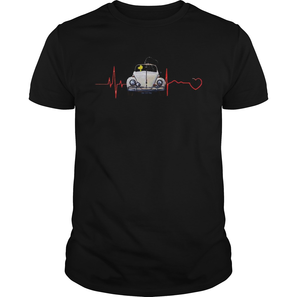 Snoopy and woodstock driving car heartbeat  Unisex