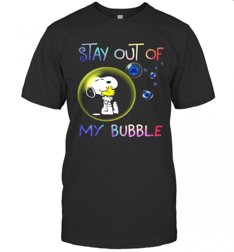 Snoopy And Woodstock Stay Out Of My Bubble Covid 19 T-Shirt Classic Men's T-shirt