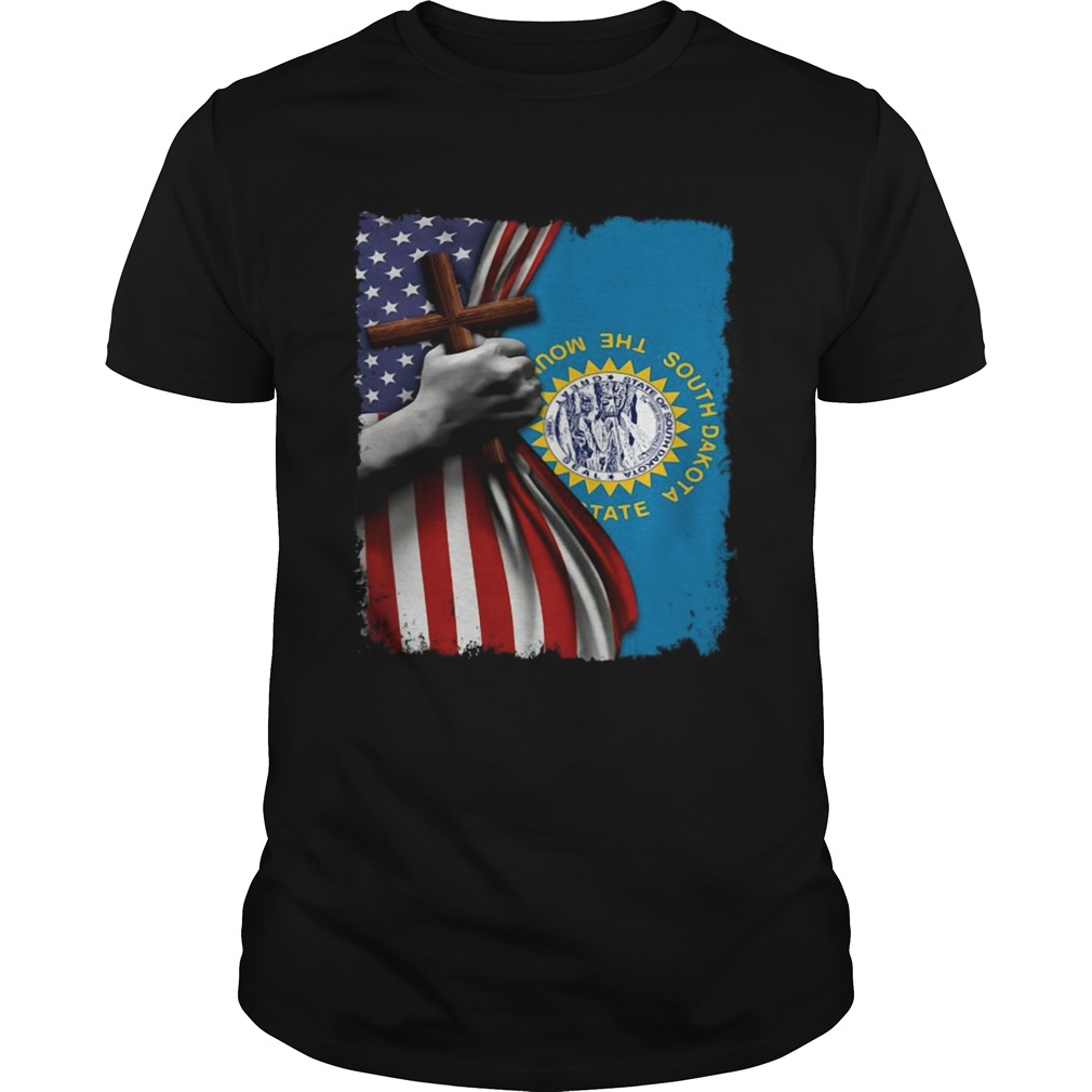 South dakota american flag cross happy independence day  Unisex