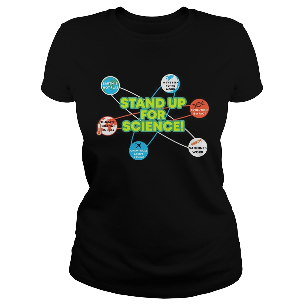 Stand Up For Science Coronavirus Vaccines Work Earh Not Flat Classic Ladies