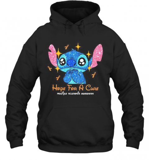Stitch Hope For A Cure Multiple Sclerosis Awareness T-Shirt Unisex Hoodie