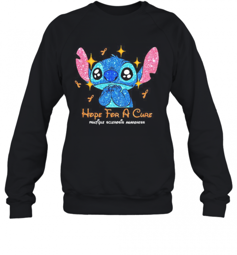 Stitch Hope For A Cure Multiple Sclerosis Awareness T-Shirt Unisex Sweatshirt