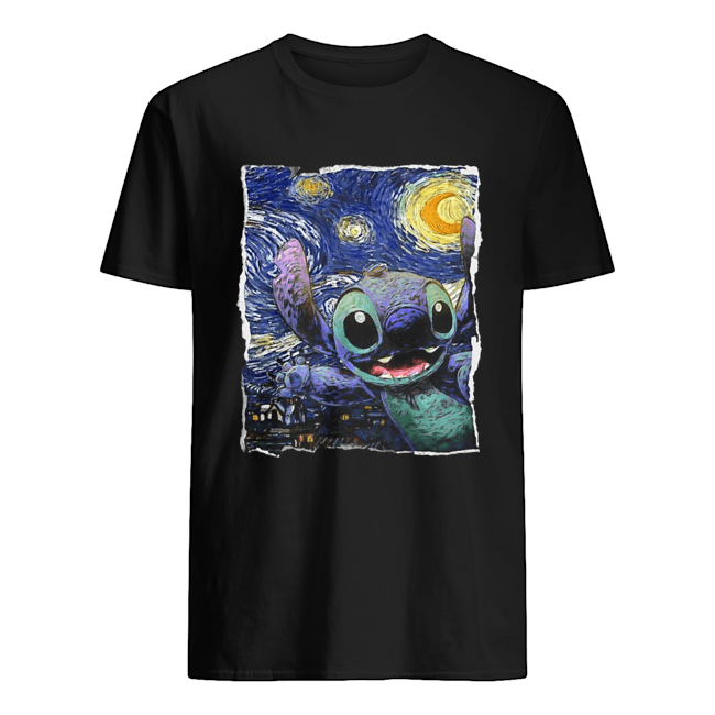 Stitch starry night van gogh  Classic Men's T-shirt