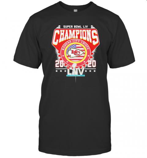 Super Bowl Liv Champions Kansas City Chiefs 2020 American Flag Independence Day T-Shirt Classic Men's T-shirt
