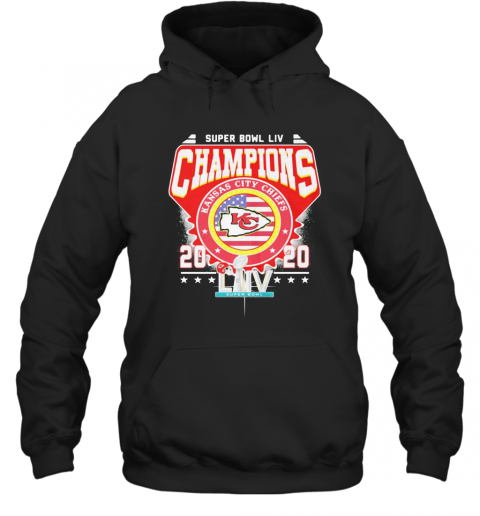 Super Bowl Liv Champions Kansas City Chiefs 2020 American Flag Independence Day T-Shirt Unisex Hoodie