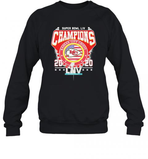 Super Bowl Liv Champions Kansas City Chiefs 2020 American Flag Independence Day T-Shirt Unisex Sweatshirt